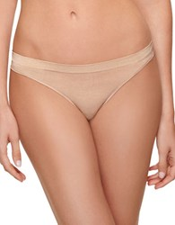 B.Tempt'd Heathered Thong Beige