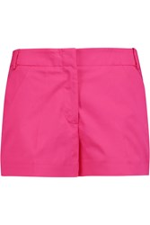 Victoria Beckham Cotton Blend Poplin Shorts Pink