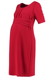 Mama Licious Mllayla Summer Dress Rio Red Dark Red