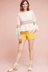 Anthropologie Relaxed Chino Shorts Gold