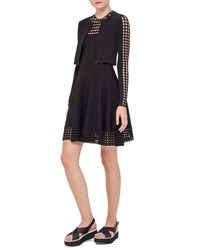 Akris Punto Knit Zip Front Bolero Black