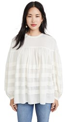 Club Monaco Layered Tuck Top Pure White