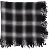 Attachment Black And White Check Scarf