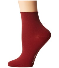Falke Cotton Touch Short Cayenne Women's Crew Cut Socks Shoes Red