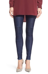 Dex Acide Wash Moto Leggings Denim Enzyme Wash