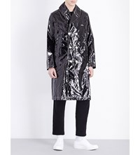 Undercover Double Breasted Patent Coat Black