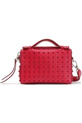Tod's Woman Studded Leather Shoulder Bag Red