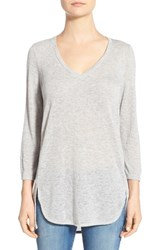 Women's Gibson V Neck Knit Tunic Grey