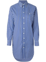 Polo Ralph Lauren Striped Shirt Dress White