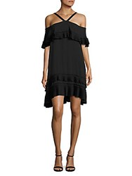 Delfi Collective Blake Pleated Ruffle Dress Black