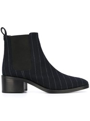 Each X Other Pinstripe Chelsea Boots Blue
