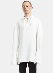Wales Bonner Raf Tie Oversized Shirt White