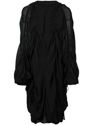Vera Wang Draped Pull Over Dress Black