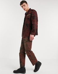 Milk It Vintage Camo Cargo Pant In Red