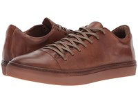 John Varvatos Collection Reed Low Top Sneaker Clay Brown Shoes Gray