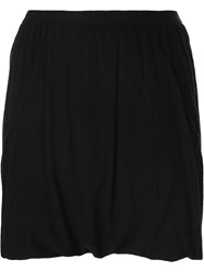 Rick Owens Lilies Elasticated Mini Skirt Black