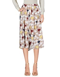 Anonyme Designers 3 4 Length Skirts Beige
