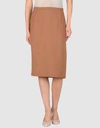 Gai Mattiolo Knee Length Skirts Ocher