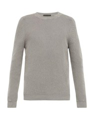 Iris Von Arnim Jackson Cashmere Crew Neck Sweater Grey