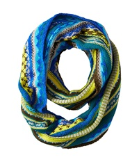 Echo Northern Fair Isle Infinity Ring Vibrant Teal Scarves Green