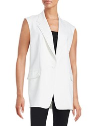 Dkny Sleeveless Notched Vest White