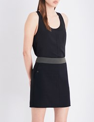 French Connection Clee Crepe And Jersey Top Black