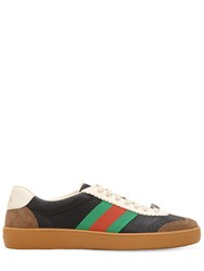 Gucci G74 Leather Sneakers W Web Details Black