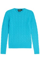 Polo Ralph Lauren Cashmere Cable Knit Pullover Turquoise