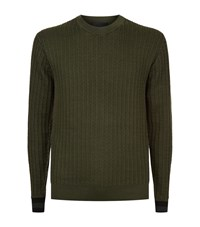 3.1 Phillip Lim Grid Knit Jumper Male Forest