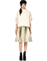 Pixie Market Goldie Metallic Midi Skirt