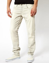 G Star Jeans Low Tapered Comfort Smoke Cream White