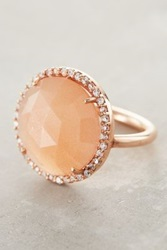 Anthropologie Rosaline Ring Peach