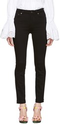 Dolce And Gabbana Black High Waisted Skinny Jeans