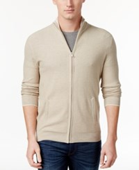 Club Room Men's Zip Cardigan Only At Macy's Serene Beight Heather