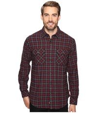 James Campbell Long Sleeve Woven Primo Plaid Crimson Men's Long Sleeve Button Up Red