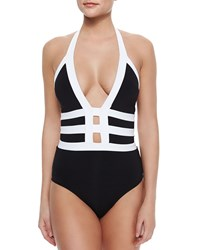 Jets By Jessika Allen Classique Two Tone Strappy One Piece Swimsuit Women's