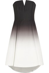 Halston Heritage Ombre Faille Dress Black