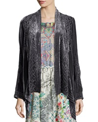 Johnny Was Kaiya Velvet Draped Cardigan