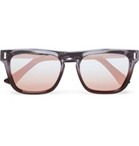 Cutler And Gross Square Frame Acetate Silver Tone Sunglasses Lilac