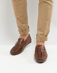 Base London Palmer Leather Loafers In Brown