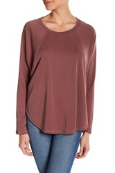 Love Zoe Raglan Sleeve Pullover Brown