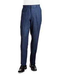 Palm Beach Linen Trousers Navy
