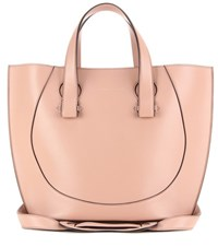 Victoria Beckham Small Tulip Leather Tote Neutrals