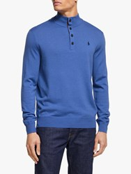 Ralph Lauren Polo Golf By Merino Button Jumper Indigo Sky