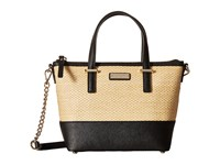 Kate Spade Cedar Street Straw Harmony Crossbody Natural Black Cross Body Handbags Beige