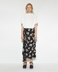 Marni Drawstring Gathered Skirt Black