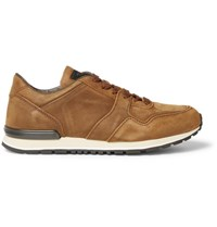 Tod's Panelled Nubuck Sneakers Light Brown
