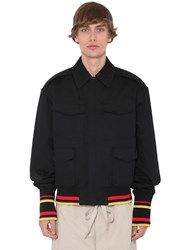 J.W.Anderson Quilted Cotton Canvas Bomber Jacket Black