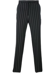 Juun.J Pinstripe Straight Trousers Black