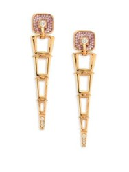 Pleve Opus Pink Diamond And 18K Yellow Gold Egyptian Drop Earrings